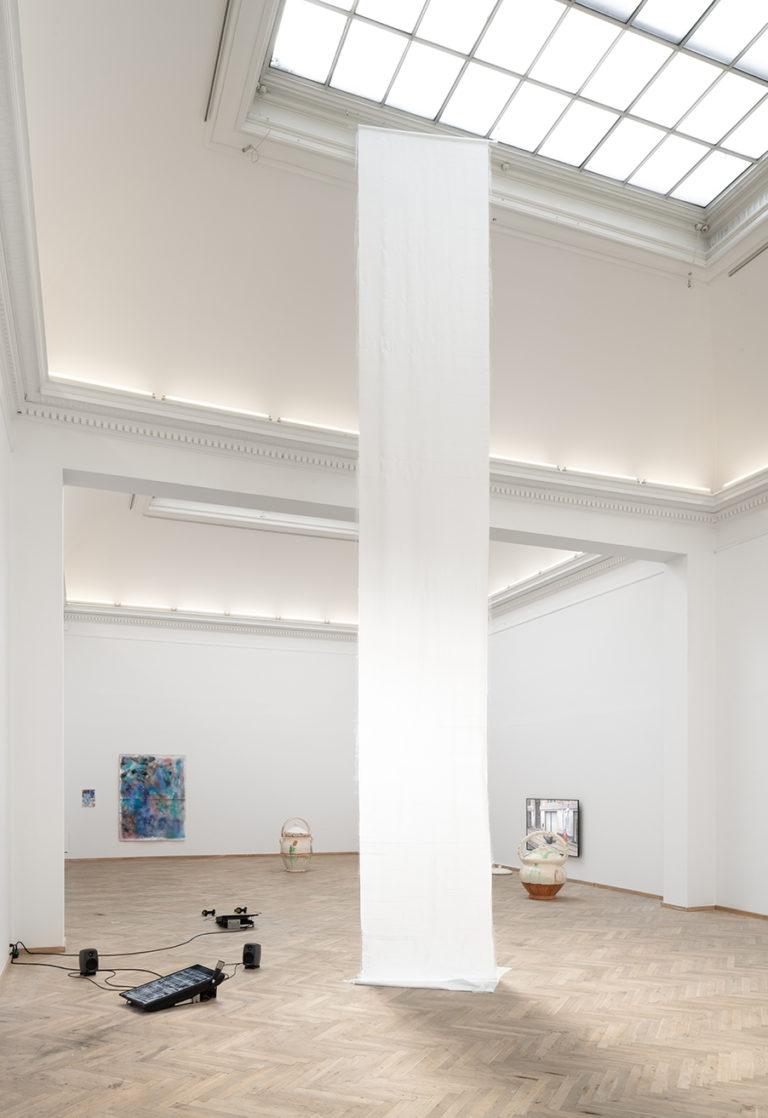 Installation shot, 'Afgang 2020', Kunsthal Charlottenborg, 2020. Photo: David Stjernholm.