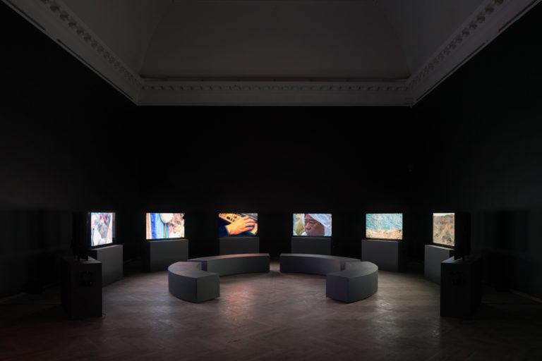 installation fra Jane jin kaisens videoer
