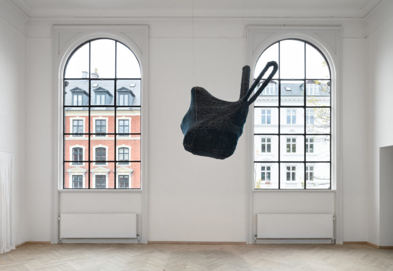 Youmna Chlala, She holds the wind, 2020. 'Heksejagt', Kunsthal Charlottenborg 2020. Photo: David Stjernholm.
