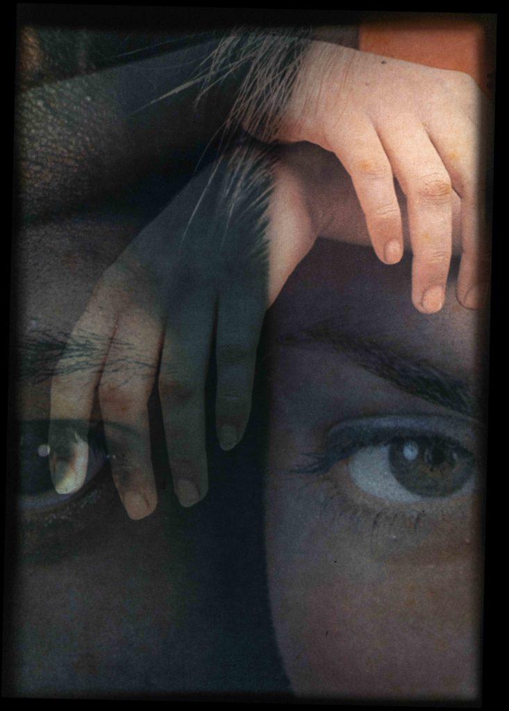 Kunstfoto, øjne, hænder