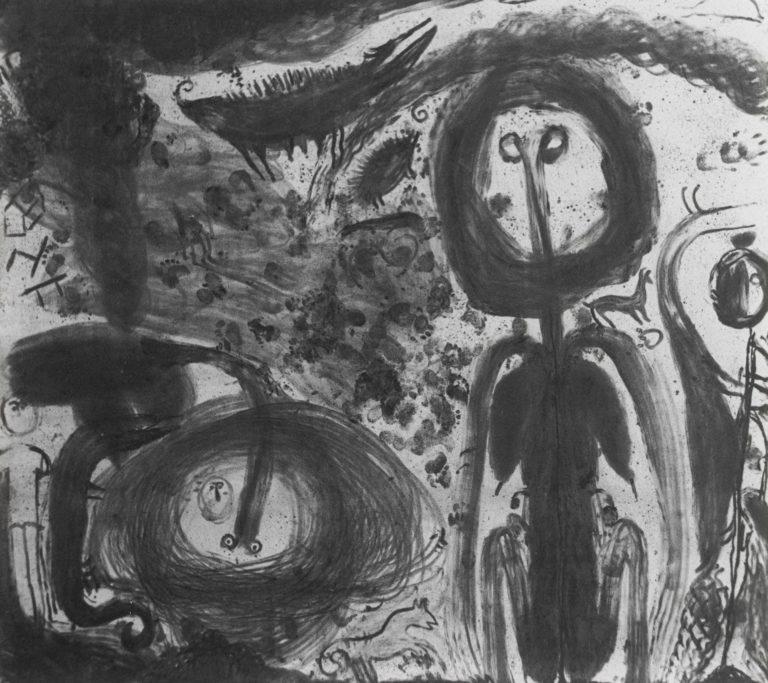 Abstrakt sort/hvid.